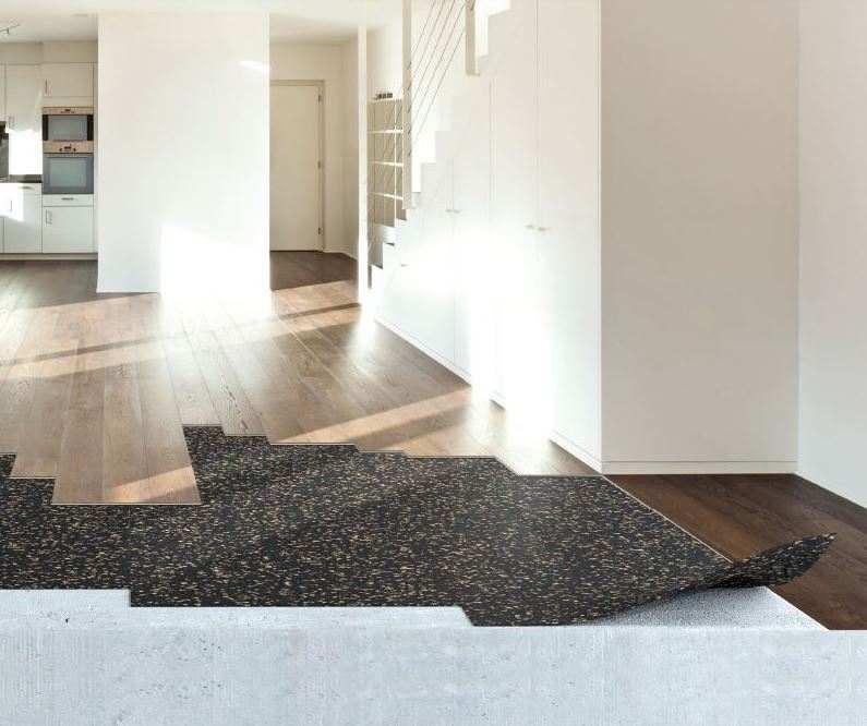 shows flooring in hallway