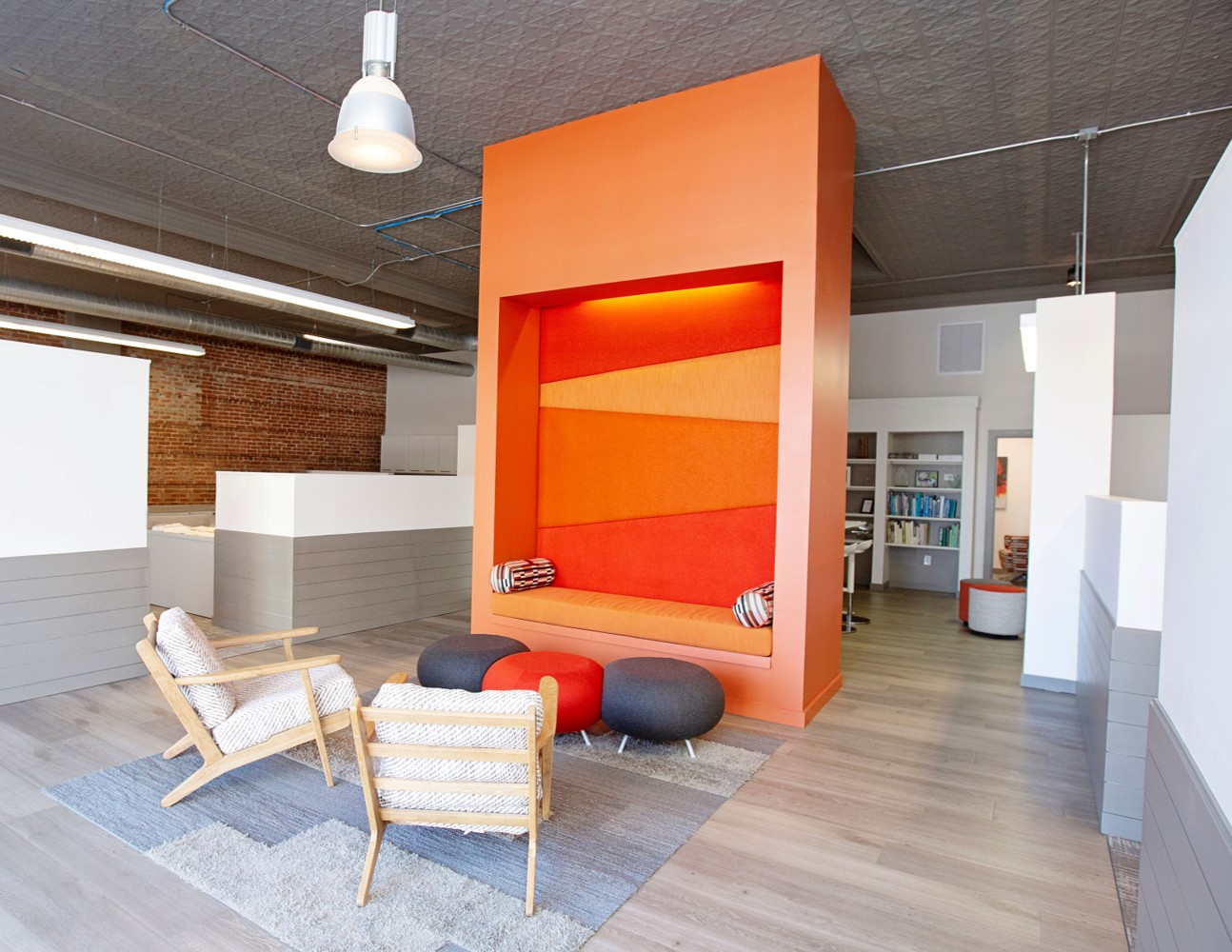 design office with chairs