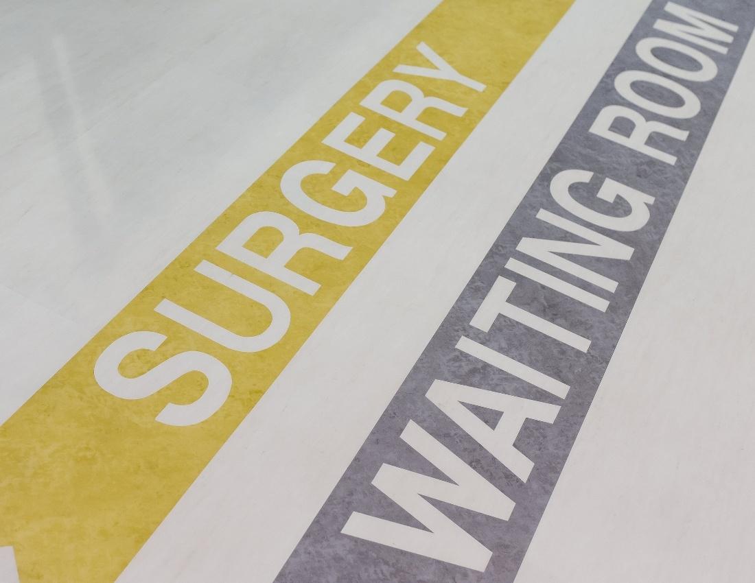 Healthcare Wayfinding Surgery flooring