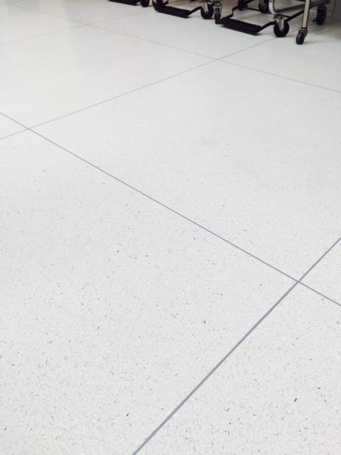 Close up of hospital flooring