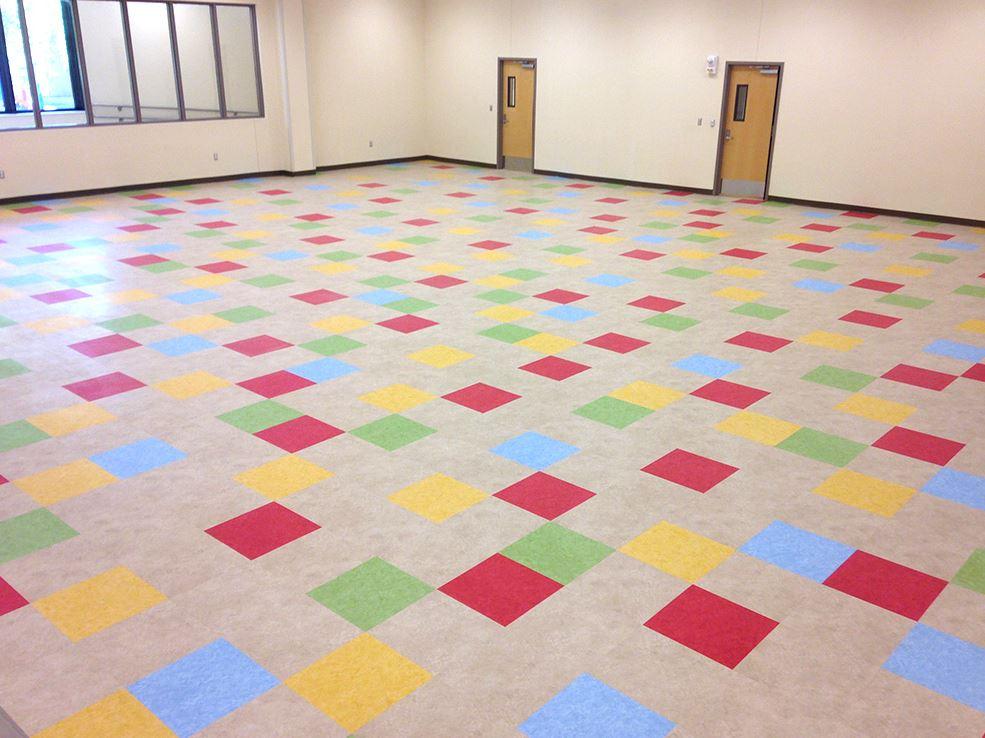 Image of school cafeteria floor