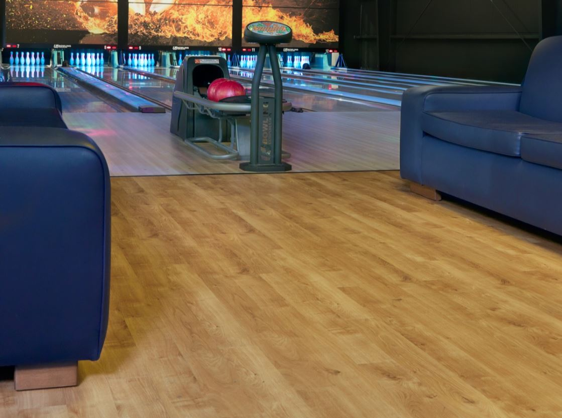 Image of inside of bowling alley