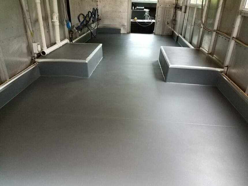 flooring after Protect-All installation