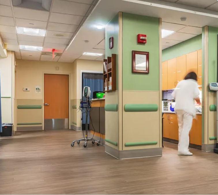 Setagrip flooring at a nurses station
