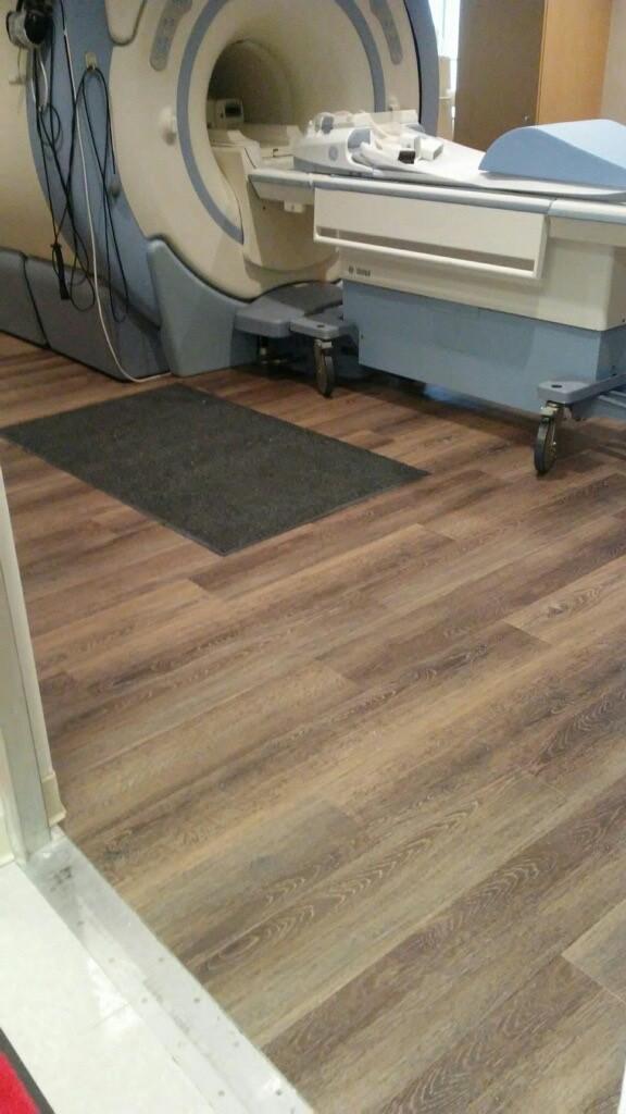 Setagrip flooring in an MRI room