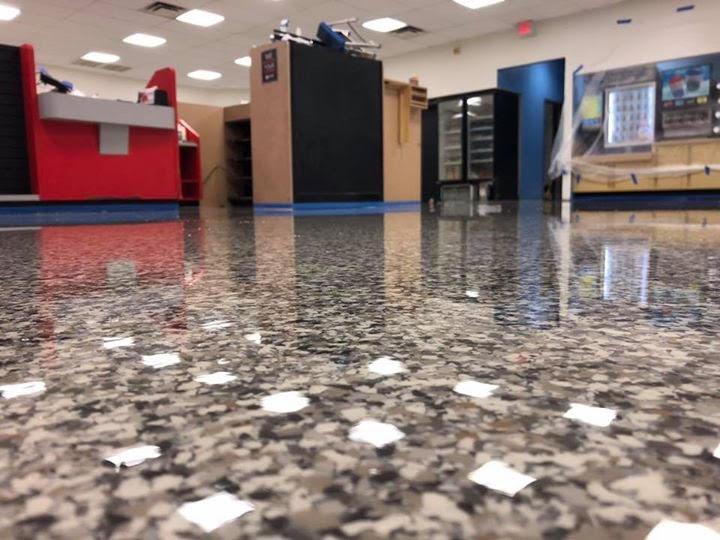 epoxy flooring with flake design