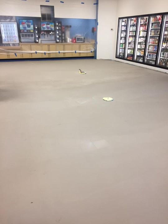 flooring with cement leveler dried