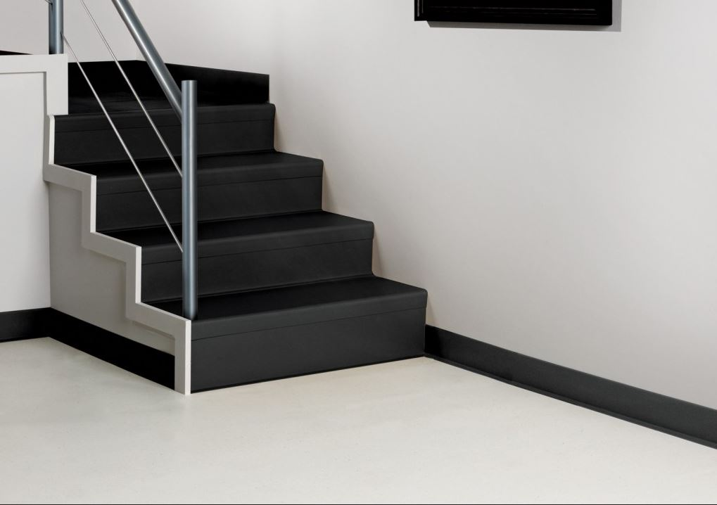 Image of Black Stair Treads on Stair Case